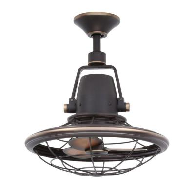 Bentley II 18.90 in. Outdoor Tarnished Bronze Oscillating Ceiling Fan with Wall Control